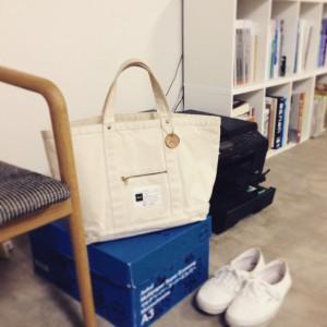 静岡のMさまが使用くださっているdifottジップ・トートバッグのお写真